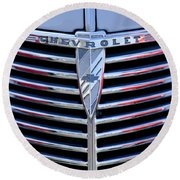 1939 Chevrolet Grille Round Beach Towel