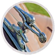1942 Packard Darrin Convertible Victoria Hood Ornament Round Beach Towel