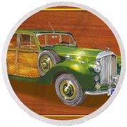 1947 Bentley Shooting Brake Round Beach Towel by Jack Pumphrey