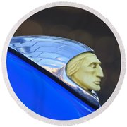 1948 Indian Chief Motorcycle Round Beach Towel