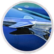 1951 Chevrolet Hood Ornament Round Beach Towel