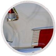 1955 Chevrolet 210 Taillight Round Beach Towel