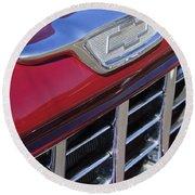 1955 Chevrolet Pickup Truck Grille Emblem Round Beach Towel