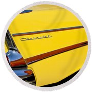 1957 Chevrolet Taillight Round Beach Towel