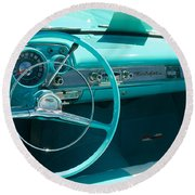 1957 Chevy Convertable Round Beach Towel