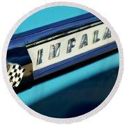 1959 Chevrolet Impala Emblem Round Beach Towel