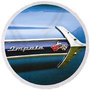 1960 Chevrolet Impala Emblem Round Beach Towel