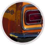 1965 Chevrolet Malibu Ss Taillight Emblem Round Beach Towel