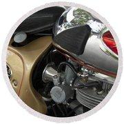 1966 Bsa 650 A-65 Spitfire Lightning Clubman Motorcycle Round Beach Towel