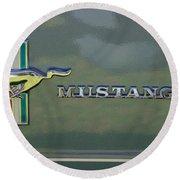1966 Mustang Round Beach Towel