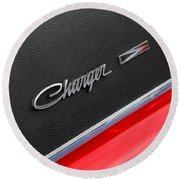 1967 Dodge Charger Round Beach Towel