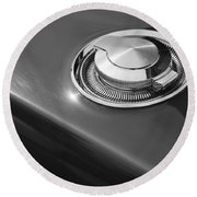 1968 Dodge Charger Fuel Cap Round Beach Towel