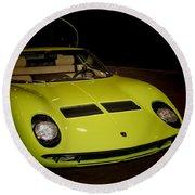 1968 Lamborghini Miura S Round Beach Towel