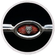 1973 Jaguar Type E Emblem Round Beach Towel