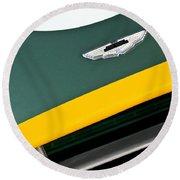1993 Aston Martin Dbr2 Recreation Hood Emblem Round Beach Towel by Jill Reger