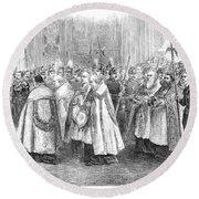 1st Vatican Council, 1869 Round Beach Towel