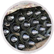 81mm Mortar Rounds Ready Stacked Ready Round Beach Towel