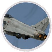 A Eurofighter F-2000 Of The Italian Air Round Beach Towel