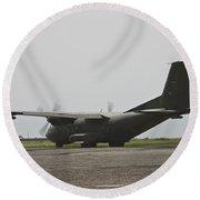 A German Air Force Transall C-160 Taxis Round Beach Towel