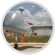 A Heron Tp Unmanned Aerial Vehicle Round Beach Towel