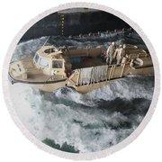 A Lighter Amphibious Re-supply Cargo Round Beach Towel