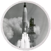 A Nasa Project Mercury Spacecraft Round Beach Towel