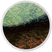 A Place To Ponder - Macro1 Round Beach Towel