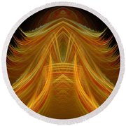 Abstract 102 Round Beach Towel