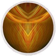 Abstract 104 Round Beach Towel