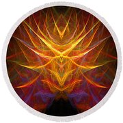 Abstract 109 Round Beach Towel