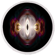 Abstract 117 Round Beach Towel