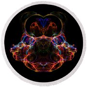 Abstract 163 Round Beach Towel