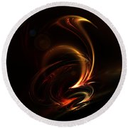 Abstract 167 Round Beach Towel