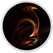 Abstract 168 Round Beach Towel