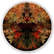 Abstract 177 Round Beach Towel