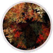 Abstract 179 Round Beach Towel