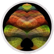 Abstract 201 Round Beach Towel