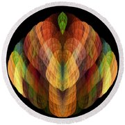 Abstract 202 Round Beach Towel