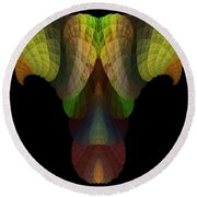 Abstract 203 Round Beach Towel
