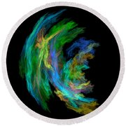 Abstract 205 Round Beach Towel