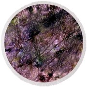 Abstract 85 Round Beach Towel