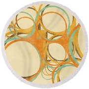 Abstract Circle Round Beach Towel