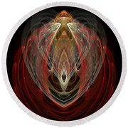 Abstract Eighty Round Beach Towel
