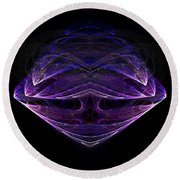 Abstract Eighty-one Round Beach Towel