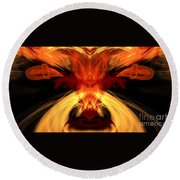 Abstract Five Round Beach Towel
