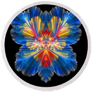 Abstract Forty-nine Round Beach Towel