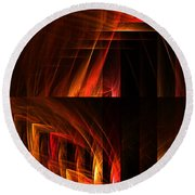 Abstract Forty-seven Round Beach Towel