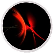 Abstract Forty-six Round Beach Towel