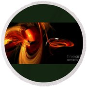 Abstract Four Round Beach Towel