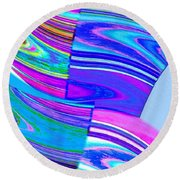 Abstract Fusion 44 Round Beach Towel